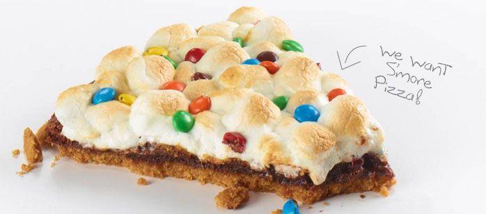 gimme s'more dessert pizza | PIZZA | Pinterest