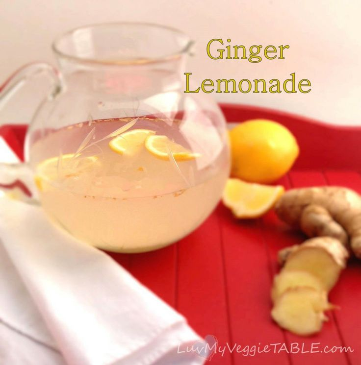 ginger lemonade | Party Drinks | Pinterest