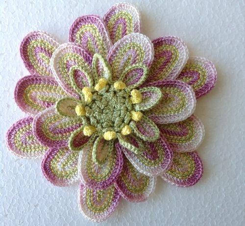Crochet Patterns In Cotton : Crochet Cotton Handmade Flower