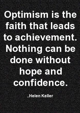 Optimism...