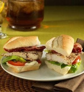 Catfish BLTs - BLTs with a twist! Crispy sweet catfish and a lemon ...