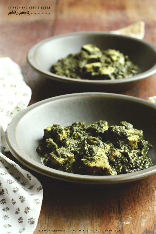 Spinach And Cheese Curry (Palak Paneer) | Recipe