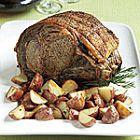Roast Prime Rib with Rosemary Red Wine Jus Lie recipe
