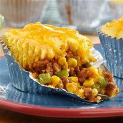 Mini Taco Tamale Pies | Allrecipes.com | Pinterest