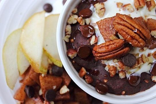 Instant Pear Chocolate & Pecan Buckwheat Bake