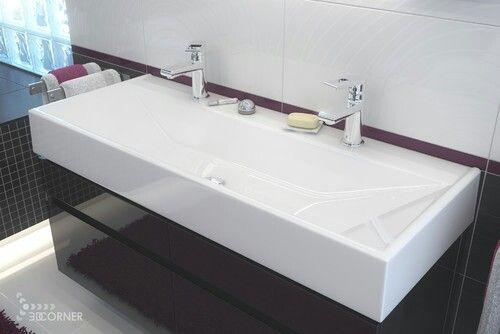 Long Sinks Bathrooms : Love the single long bathroom sink! Bathrooms Pinterest