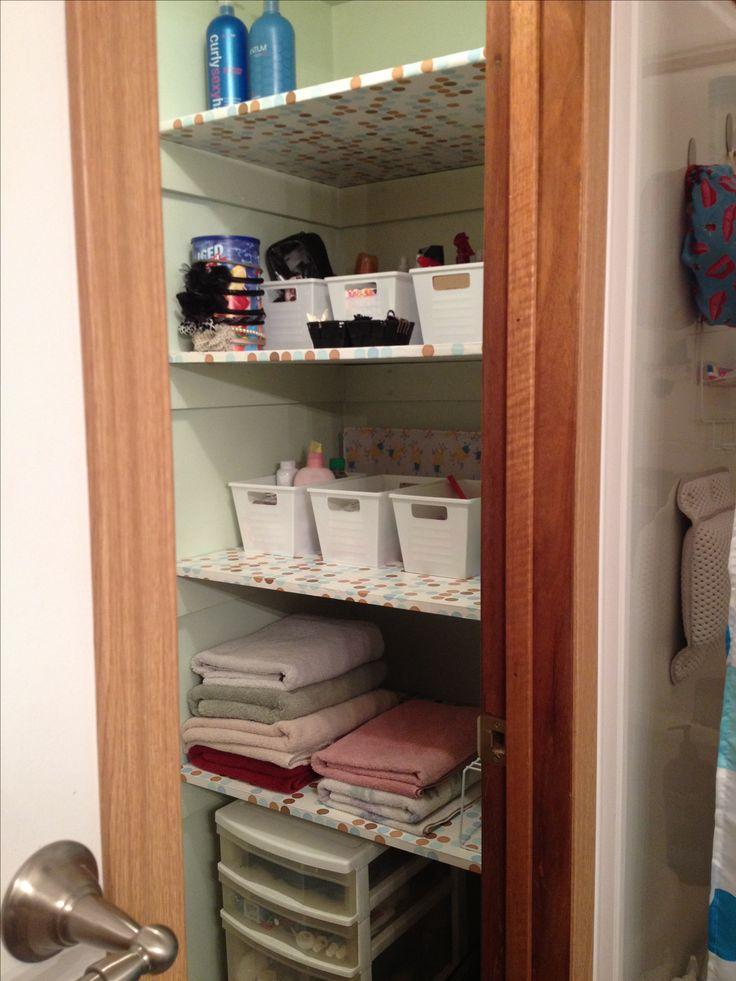 Organize Bathroom Linen Closet Organizing 101 Pinterest