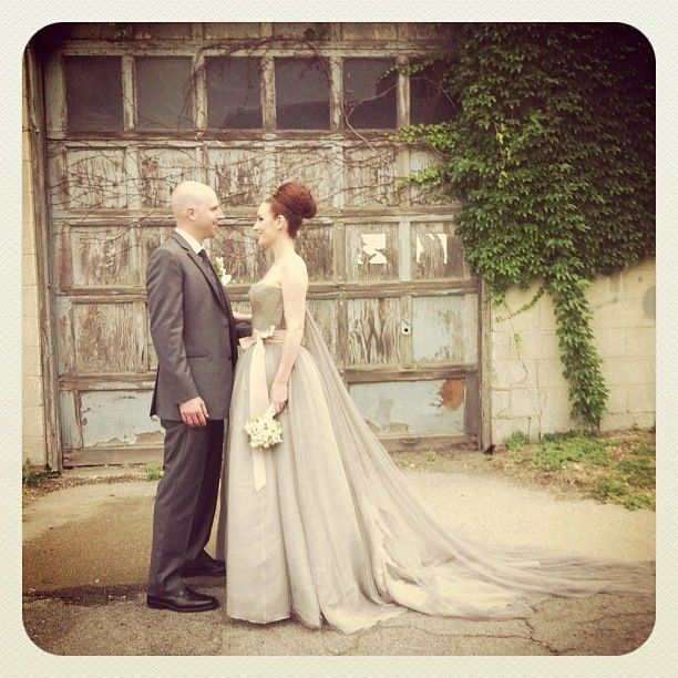 Vera Wang Gray Harlow Wedding Dress Grey Gray Wedding