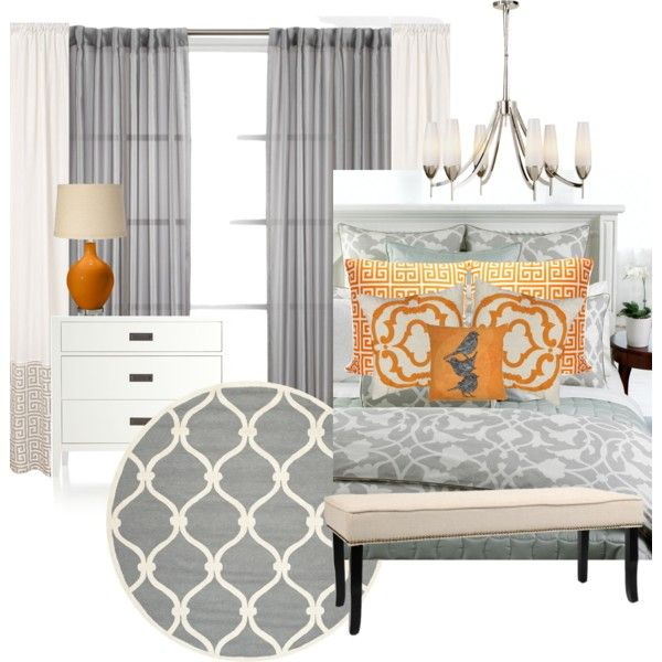 VAC Gray And Orange Master Bedroom Decorating Ideas Bedrooms Pi