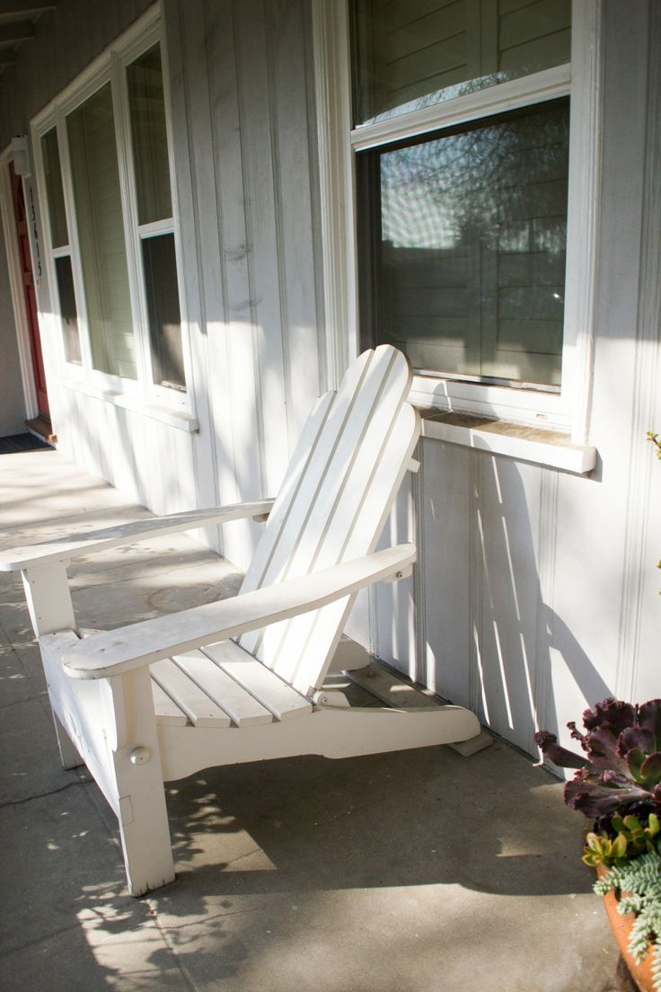 Adirondack chairs on pastimes front porch