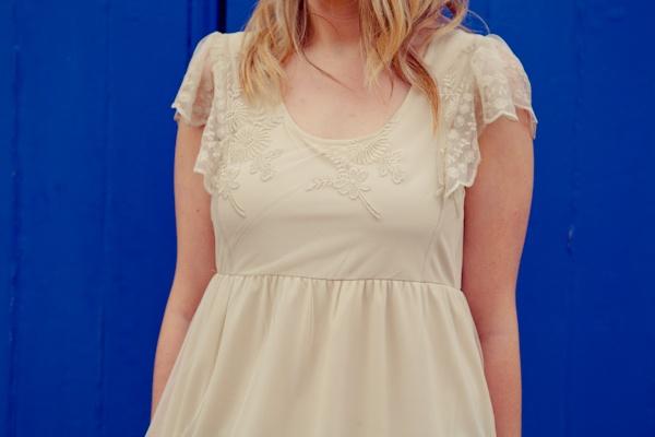 Short vintage style wedding dress