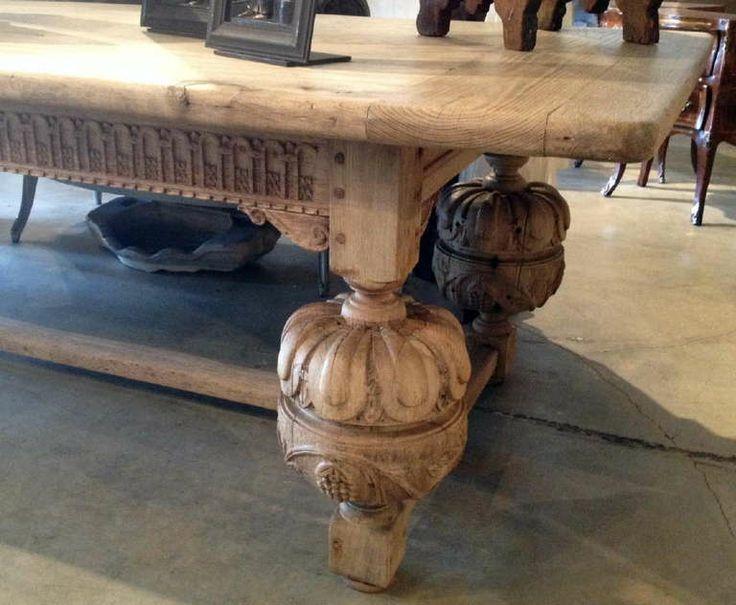 Jacobean Style Furniture Massive Jacobean Style Table image 5