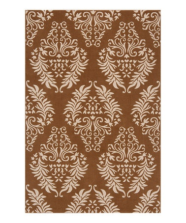 For Our Bathroom Take A Look At This Damask Wool Rug By Momeni Rugs