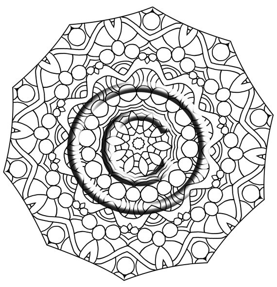 intricate mandala coloring pages - photo#22