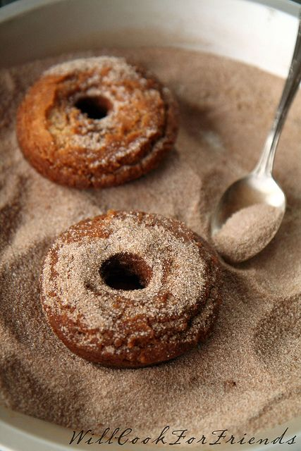 Spiced Cider Doughnuts, 4/5 by WillCookForFriends, via Flickr