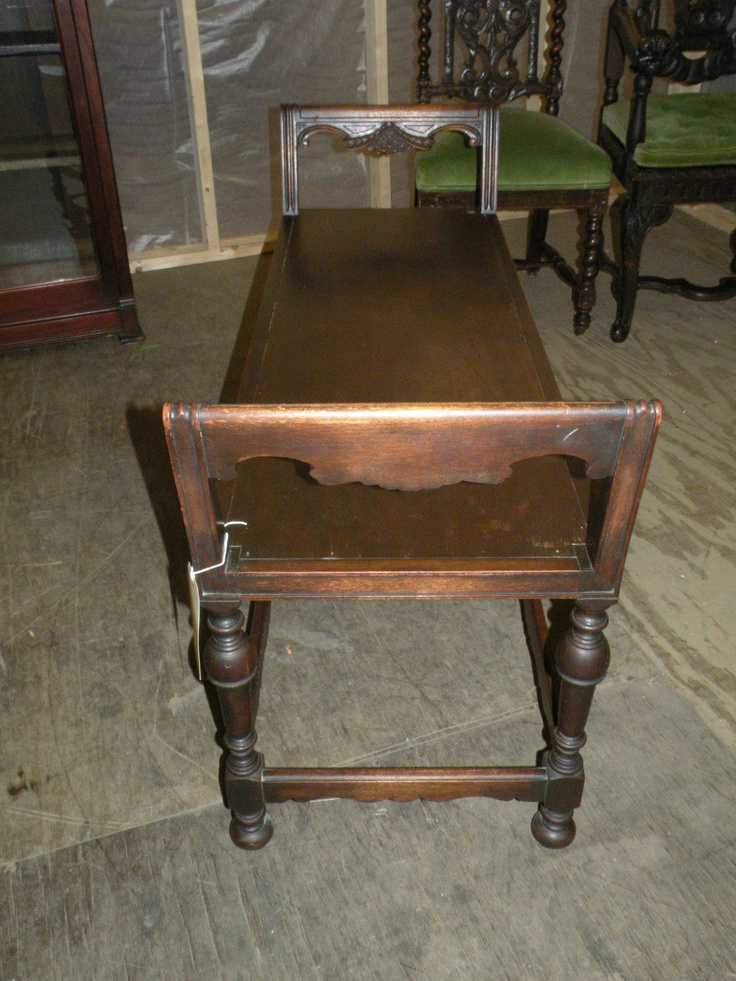 Antique Elgin Simonds Furniture Hand Carved Wood Bench Seat Chair Ebay