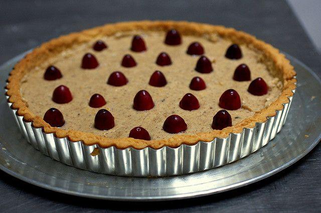 for thanksgiving cranberry pecan frangipane tart