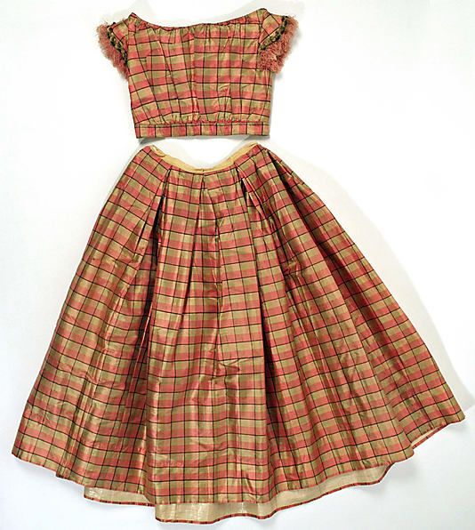 Girls Dress  Date: 1850 Culture: American (probably) Medium: silk