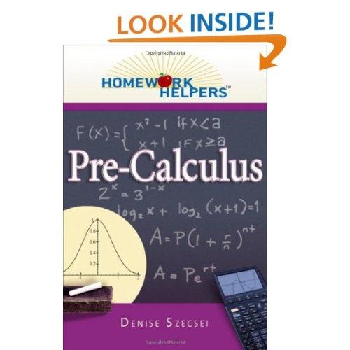 Pre calculus homework helper