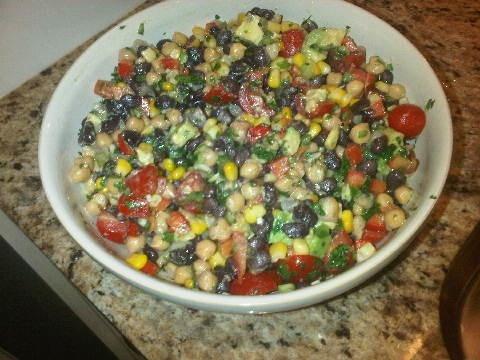Black Bean, Chickpea & Avocado Salad | Vegan | Pinterest