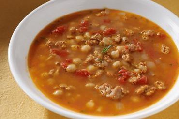 Spicy (chicken or turkey) Sausage & Chickpea Stew. Fast. Fast. Fast ...