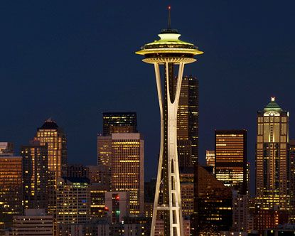 dinner with my husband in the space needle in seattle washington
