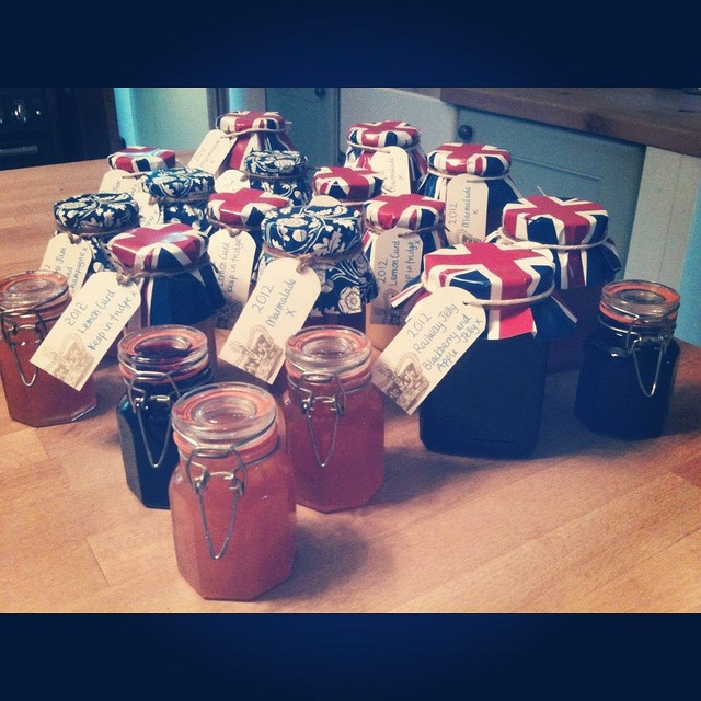 Jams and jellies as Christmas gifts. Recipe for Bellini Jam here: http ...