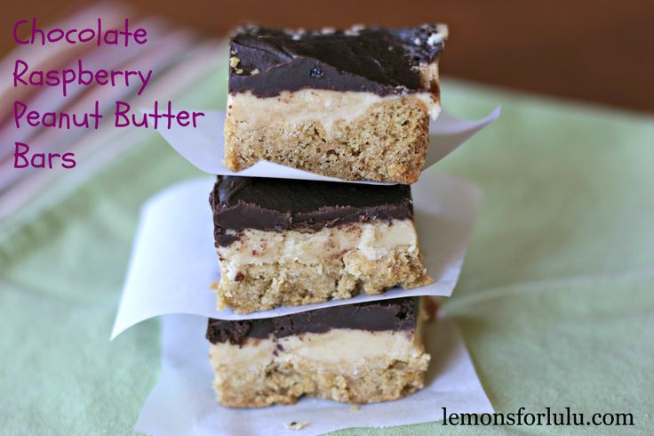 Chocolate Raspberry Peanut Butter Bars