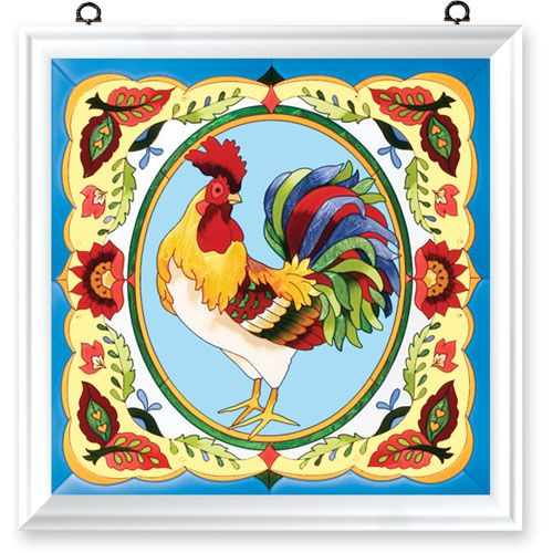 Joan Baker Designs ~ French Country Rooster Art Panel