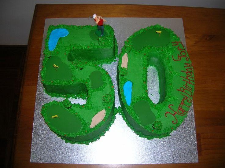 Happy 50th Birthday Gary Golf Cake Gjs Cakes