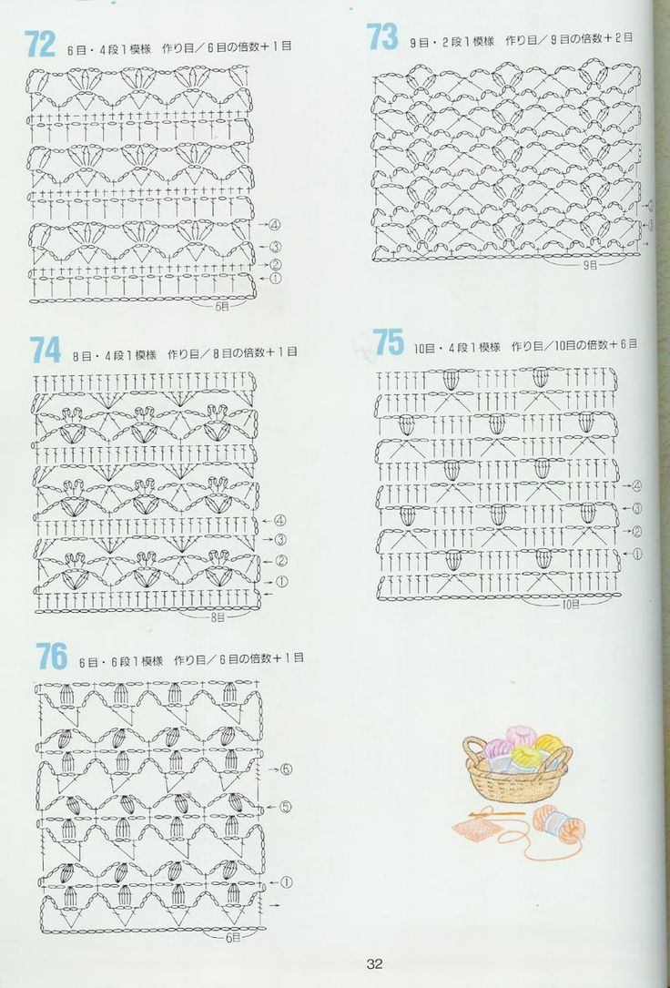 Crochet Stitches Japanese : japanese crochet pattern Crochet Uncinetto Pinterest