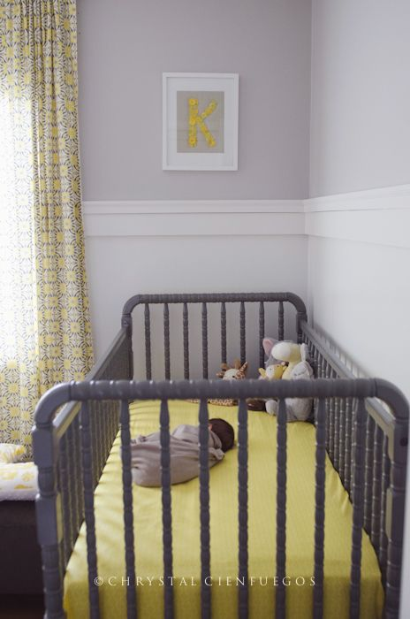 Gray Jenny Lind Crib gray and yellow decor   # Pin++ for Pinterest #