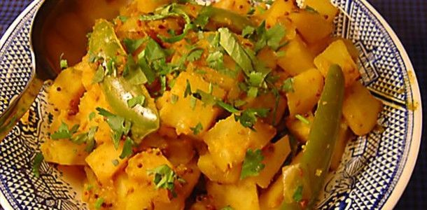 Indian Potatoes with Mustard Seeds (Sookhi Bhaji) Recipe
