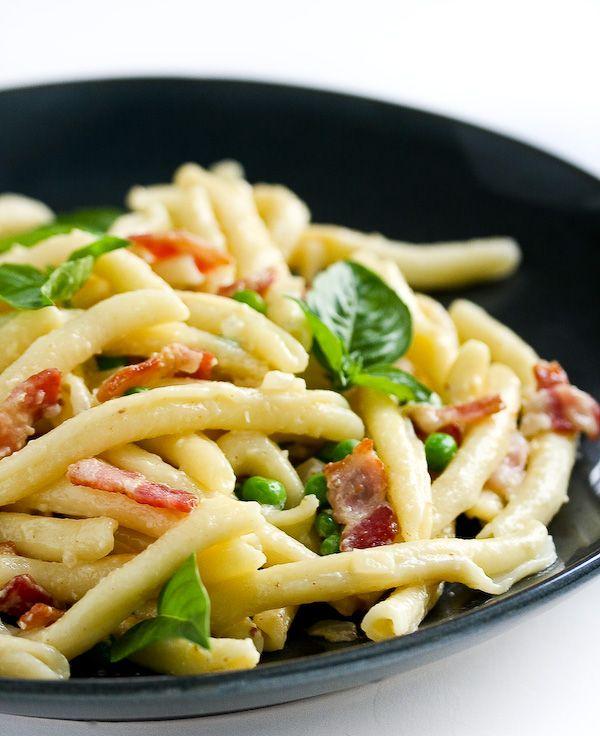 Pasta, Bacon and Peas | Recipe