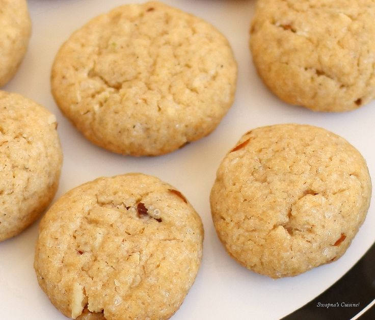 Whole Wheat Almond Eggless Cookies | allergen free cooking | Pinterest
