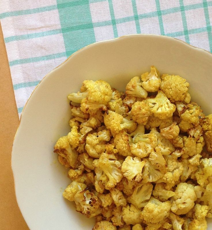 Curry Cauliflower Popcorn | Non Carb | Pinterest