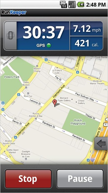 android jogging tracking app