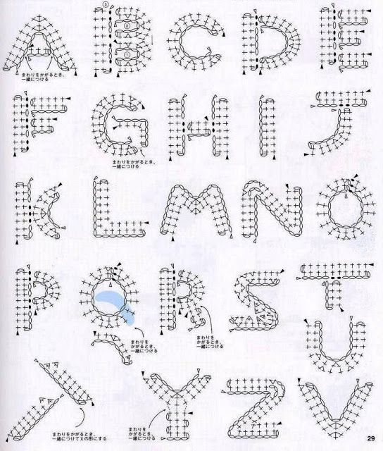 Crochet Pattern Alphabet : Crochet Alphabet Crochet/Knit/Sew Pinterest
