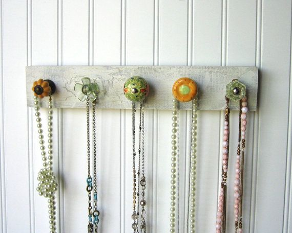 Necklace Organizer / Accessories Rack in by AuntDedesBasement, $32.00