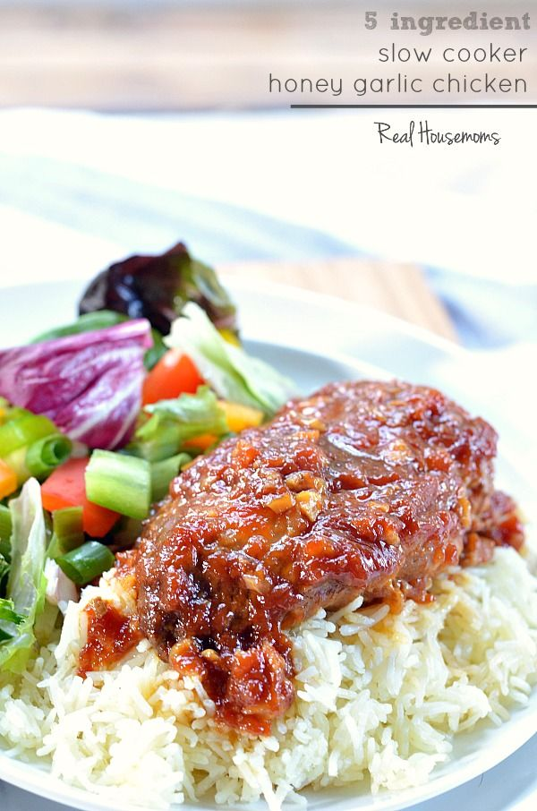 SLOW COOKER HONEY GARLIC CHICKEN: This Slow Cooker dish is made up of ...