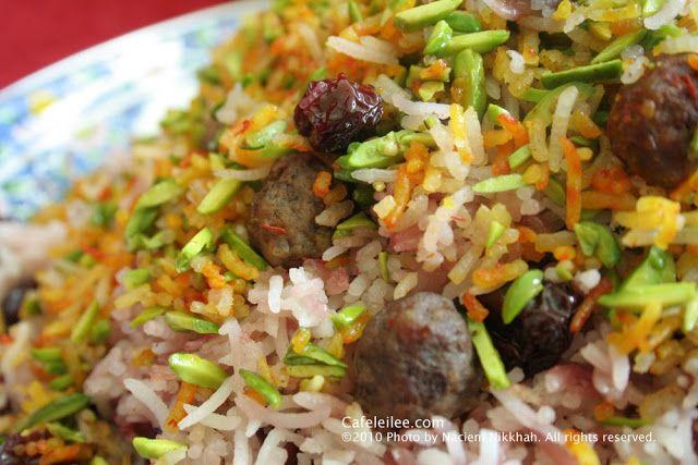 Sour Cherry Rice (Albaloo Polow) آلبالو پلو
