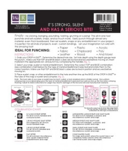 Crop A Dile Instruction Sheet   Cheat Sheets   Rubber ...
