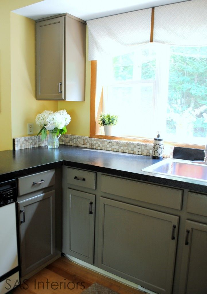 Kitchen Makeover Painting Oak Cabinets Home Pinterest