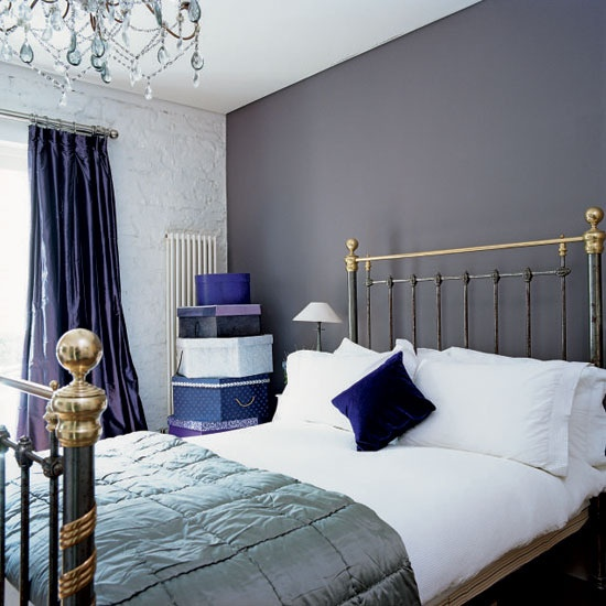 blue purple gray bedroom house it pinterest