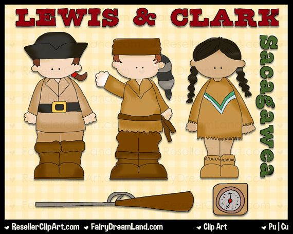 Lewis & Clark Digital Clip Art - Commercial Use Graphic Image Png Cli ...