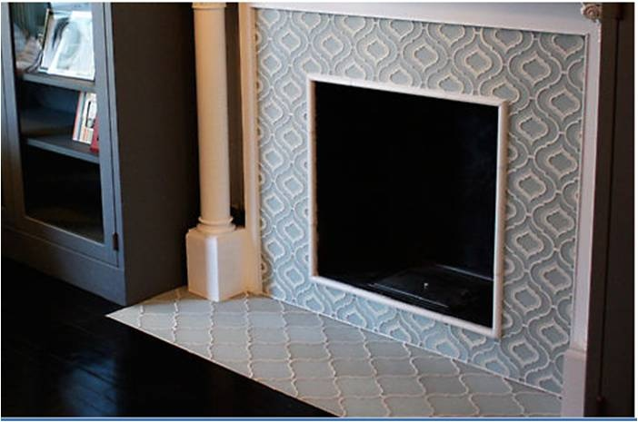 Revival Moroccan Tile Fireplace For The Home Pinterest