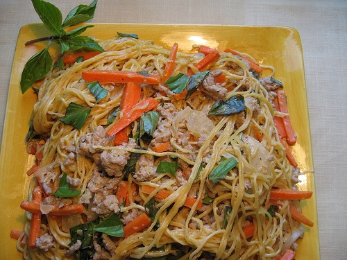 Thai Curried Noodles with Pork and Basil | Recipes | Pinterest