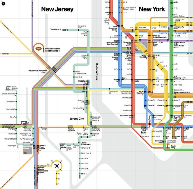 A New York City Transit Map CustomMade For The Super Bowl