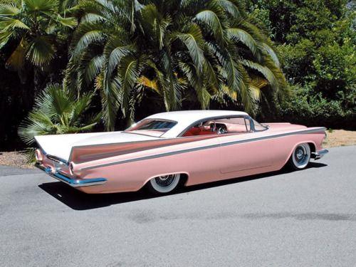 vintage pink car-