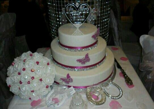 Pink And Silver Wedding Cake Wedding Ceremony Reception Other Ite